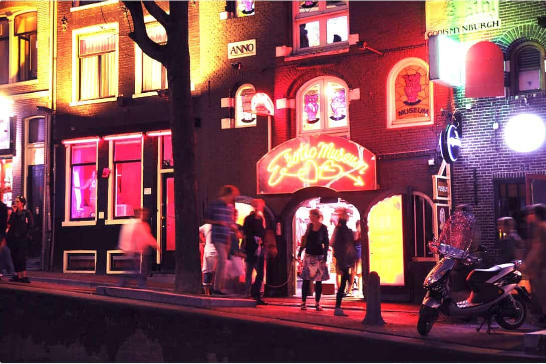 Erotic Museum in Amsterdam's Red-Light District.