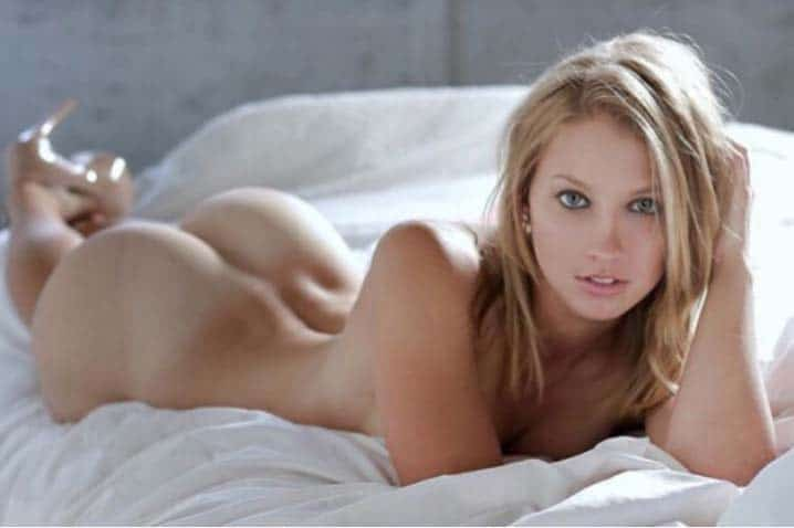 Stella Laying In Bed Nude Showing Bare Butt.