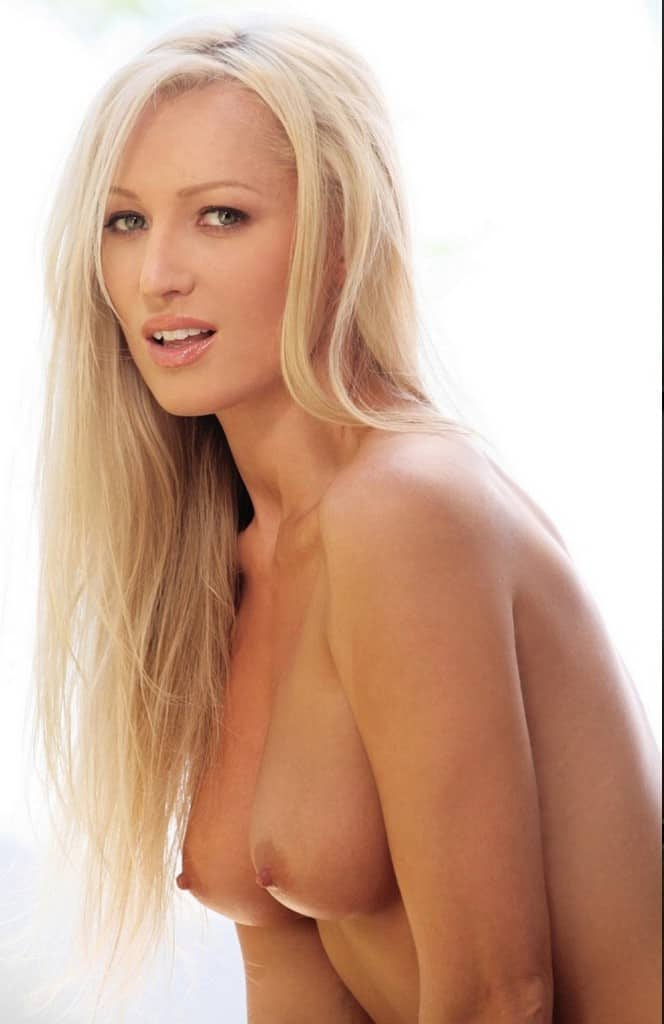 Laura Standing Up Topless With Blonde Hair Down