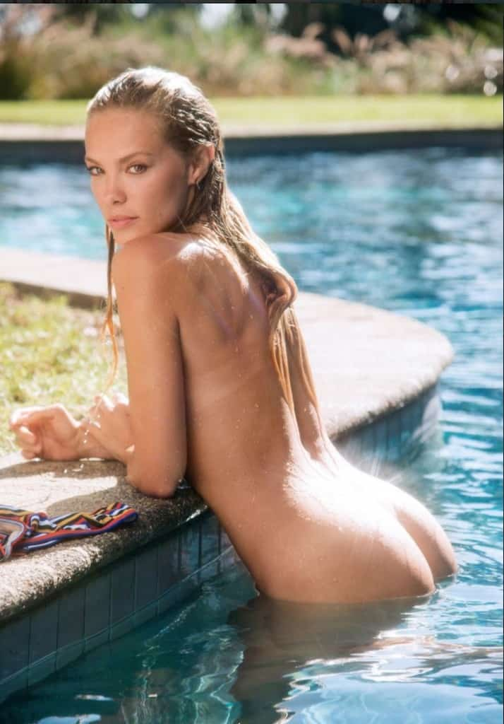 Valerie Standing At Edge Of Pool Showing Her Butt